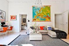 Estilo escandinavo con pinceladas de color | Decorar tu casa es facilisimo.com