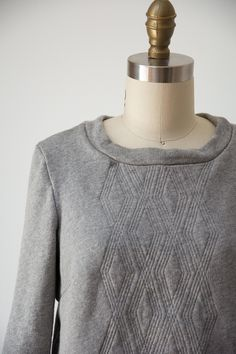 Inspired by chunky cable knit sweaters and warm, cozy campwear, I created four original designs for your handmade quilted sweatshirts. Quilted Sweatshirt Jacket, Couture, Sweatshirt Makeover, Dress Making Patterns, Shirt Refashion, Cable Knit Sweaters, Sewing Clothes, Dressmaking, Sewing Tutorials