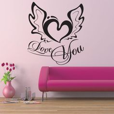 Home Gallery Wall Sticker Quotes & Words Love You Wall Sticker Quote