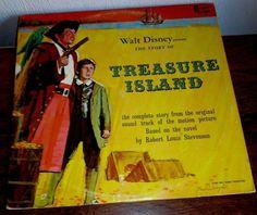 WALT DISNEY'S TREASURE ISLAND // 1964 DISNEYLAND LP DQ-1251 BOBBY DRISCOLL