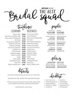 Editable WORD Template – Keep calm. We have the best bridal squad – Wedding Day Schedule, Checklist, Organizer Document – Editable WORD Template – Keep calm. We have the best bridal squad – Wedding Day Schedule, Checklist, Organizer Document Budget Wedding, Plan Your Wedding, Wedding Tips, Wedding Events, Wedding Ceremony, Wedding Stuff, Luxury Wedding, Wedding Hacks, Wedding Details