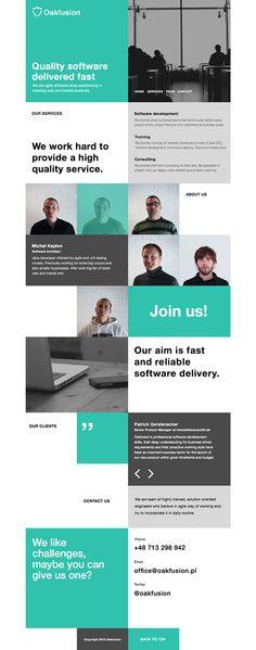 Flat Webdesign - Oakfusion - #design #flatdesign #inspiration #webdesign #website #onepage