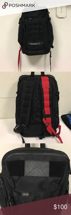 Reebok CrossFit Backpack Reebok CrossFit backpack.... lots of pockets perfect for traveling or the gym Reebok Bags Backpacks