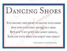 Bei jeder Hochzeit wird es ein Punkt, wenn Ihre fabelhafte Schuhe, die Sie für diesen besonderen Anlass gekauft Füße irreparabel zerstört