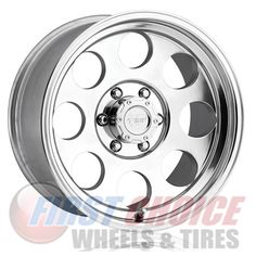 Pro Comp 69 Series Vintage, Wheel with 5 on 5 Bolt Pattern - Polished - Chrome Wheels, Car Wheels, 2001 Dodge Ram 1500, Pro Comp, Vossen Wheels, Custom Wheels, Lifted Ford, Alloy Wheel, Tired