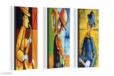 Paintings & Posters Attractive Trendy Wall Posters  Material: MDF  Size- (L X W ): 36 cm X 45 cm Description: It Has 3 Pieces Of Wall Poster Work: Printed Country of Origin: India Sizes Available: Free Size   Catalog Rating: ★4.1 (3962)  Catalog Name: Navratri Multicolor Attractive Trendy Wall Posters Vol 5 CatalogID_622663 C127-SC1611 Code: 981-4339511-792