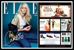 Rickety Rack in ELLE, December 2013 December 2013, Blue Velvet, Boutique, Cover, Movie Posters, Film Poster, Popcorn Posters, Film Posters, Posters
