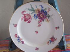Bavarian German 8 china plates by threeGGGs on Etsy, $30.00