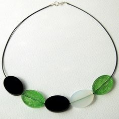 """Sarah Packington """"Void"""" Necklace / Cadwyn [Hand dyed Acrylic / Acrylig wedi lliwio a llaw] Beaded Necklace, Silver, Jewelry, Collections, Shop, Jewellery Making, Jewerly, Beaded Necklaces, Jewlery"""