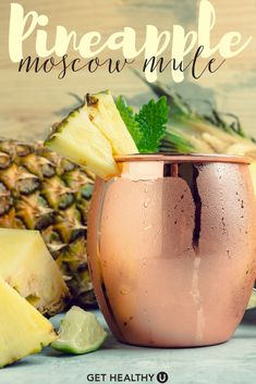 Pineapple Moscow Mule – Get Healthy U Healthy Drinks, Fun Drinks, Refreshing Drinks, Mixed Drinks, Get Healthy, Healthy Recipes, Alcohol Drink Recipes, Fireball Recipes, Pineapple Vodka