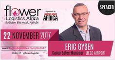 Eric Gysen from LIEGE Airport speaker at Flower Logistics Africa #FLA2017 #coolchain #flowerlogistics #kenyaflower