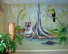 Beautiful Jungle Wall Murals Ideas - Jungle Kids Wall Murals ...