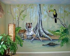 Beautiful Jungle Wall Murals Ideas - Jungle Kids Wall Murals ...