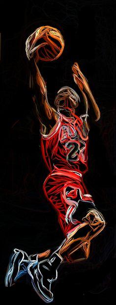 Michael Jordan by Bob Smerecki.