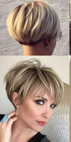 -Prom Hairstyles Model I like - shorthairstylesforthickhair.Prom Hairstyles Model I like - shorthairstylesforthickhair Short Hairstyles For Thick Hair, Short Hair With Layers, Short Hair Cuts For Women, Curly Hair Styles, Cool Hairstyles, Hairstyles Videos, Weave Hairstyles, Everyday Hairstyles, Formal Hairstyles
