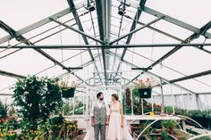 First Look in a Green House, Wedding First Looks  Los Poblanos Ranch, Albuquerque, New Mexico LorenxChris.com Wedding Photography