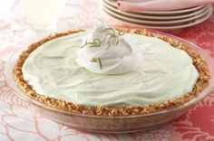 Key Lime Margarita Pie recipe - While there's no alcohol in this creamy frozen dessert, it sure tastes real. The hint of salt comes from the pretzel crust, while the citrus zip is in the creamy filling    Enter the COOL WHIP Pin & Win Sweepstakes! Get started by pinning your favorite COOL WHIP recipe and you could win the $500 Grand Prize!  Visit www.kraftrecipes.com/CoolWhipSweepstakes for complete details. #DollopDays #PinandWin