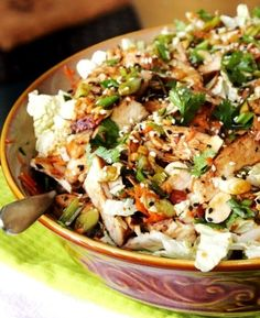 The dressing in this recipe doubles as the marinade, and boy does it sound delicious! An asian chicken salad is one of my favorite dishes, especially with a heaping handful of toasted almonds. I love all of the different flavors and textures; the combined ingredients are  like a salad's match made in heaven. Hop on …
