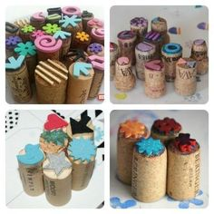 adventures_in_teaching_art Thank you for showing me how to up upcycle my ridiculous amount of wine corks. I'll spend the weekend making these little bad boys for stamping on Tuesday. Kids Crafts, Diy And Crafts, Arts And Crafts, Cork Crafts, Paper Crafts, Homemade Stamps, Dora, Tampons, Fabric Painting