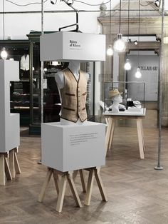 """Architecture for the exhibition """"Dandy"""" at Nordiska Museet, Stockholm, designed by Form Us With Love."""