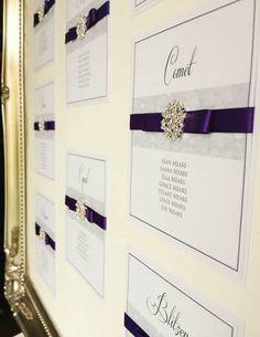 Table_Plans winter, purple, silver, snowflake by www.els-design.com
