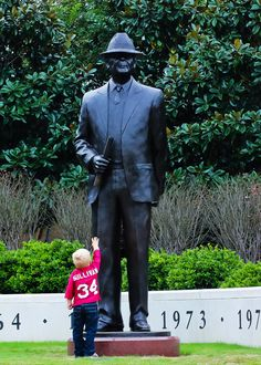 One day coach Bryant I'm gonna play for the Tide and make you proud........ Not our son but we adored the photo as a family.
