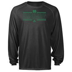 Notre Dame Fighting Irish Black Bleed Out 2012-2013 On-Court Basketball Practice Climalite Long Sleeve T-Shirt $33
