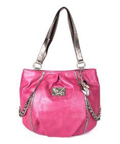 This Kathy Van Zeeland Hot Pink Chain Reaction Shopper Tote by Kathy Van Zeeland is perfect! #zulilyfinds