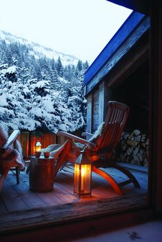 #snow #chalet