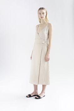 DE SMET | FIRST WRAP DRESS  | HIMALAYAN SALT