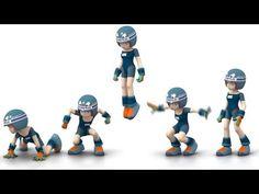 Vertical Jump : Key frame Animation : 牛山雅博 - YouTube