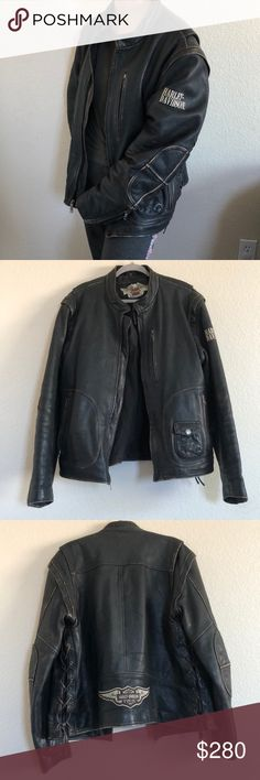 e75f901935b5d Authentic Vintage Leather Harley Davidson Jacket Authentic Vintage Genuine Leather  Harley Davidson Jacket!! Genuine
