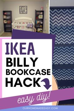 This simple Ikea Billy bookcase hack was the perfect addition to our nursery! It's simple to do and really elevates a plain piece to somethig special. This update costs less than $100!