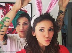 Ruby Rose with Nina Dobrev.