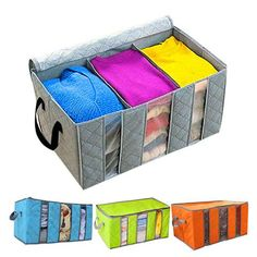 Creative 2015 Foldable Bamboo Charcoal Fibre Home Closet Storage Boxes Organizer Box Anti-bacterial Clothes Finishing Box Quilt Storage, Cube Storage, Closet Storage, Storage Boxes, Wardrobe Storage, Bedroom Storage, Kitchen Storage, Storage Ideas, Storage Bags For Clothes