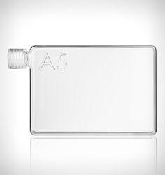 Memobottle A5 Water Bottle Clear - Rushfaster.com.au Australia