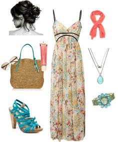 """""""Summer Dress"""" by heather767 ❤ liked on Polyvore"""