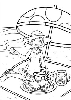 Holly Hobbie and Friends Coloring Page. source: kids-n-fun.com
