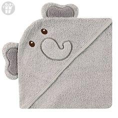 Luvable Friends Animal Face Hooded Towel, Elephant (*Amazon Partner-Link)