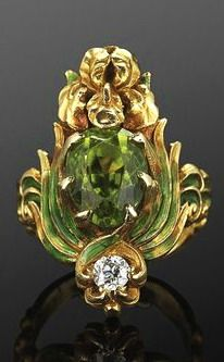 Brosche Diamanten Vintage Gelbgold Vintage Fragrant Aroma Broschen & Anstecknadeln Diamanten & Edelsteine