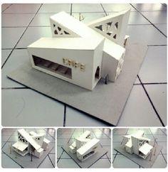 Maquete linda! Maquette Architecture, Concept Models Architecture, Architecture Model Making, School Architecture, Sustainable Architecture, Architecture Plan, Modern Villa Design, Arch Model, Architect House