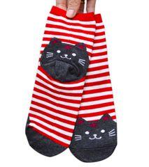 Cartoon Cat Striped Socks