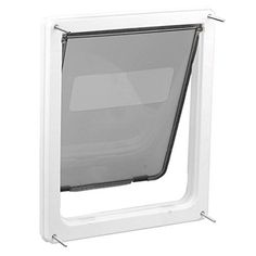 hotstype Pet Product Extra-Large Pet Door with Telescoping Frame White Model:. Material: ABS. Approx Size: 43 x 35.5 x 4.5cm(L X W X H) ( 17*14*1.8). For dogs and cats up to 90 pounds. Simple 4-step installation takes only about 20 minutes. Package Content: 1 x Pet Door+1 x Accessories.