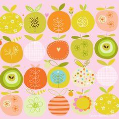 #carolyn gavin #pattern #fruits
