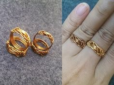 wire knot ring - How to make wire jewelery 250