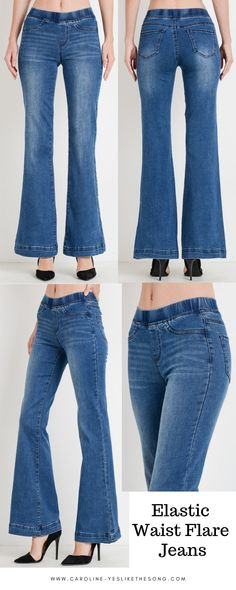 Elastic Waist Flare Jeans - super comfy and a perfect fit