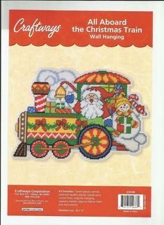 Christmas Train, Christmas Items, Christmas Cross, Cross Stitch Angels, Plastic Canvas Christmas, Plastic Canvas Patterns, Pattern Books, Beautiful Patterns, Needlework