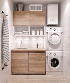 Awesome Small Laundry Room Decor Ideas For Your House 02 Laundry Room Cabinets, Laundry Room Organization, Organization Ideas, Diy Cabinets, Storage Ideas, Small Laundry Rooms, Laundry Room Design, Laundry Area, Laundy Room