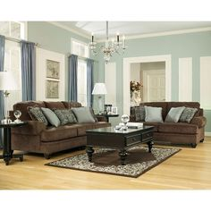 45 Living Room Paint Color Ideas With Brown Furniture Leather Couches Colour Palettes The Story 2 Living Room Decor Brown Couch, Leather Living Room Furniture, Brown Furniture, New Living Room, Living Room Sets, Living Room Designs, Living Area, Furniture Ideas, Ashely Furniture