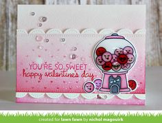 the Lawn Fawn blog: Lawn Fawn Video {1.14.16} A Sweet Smiles Valentine's Day card with Nichol Magouirk.